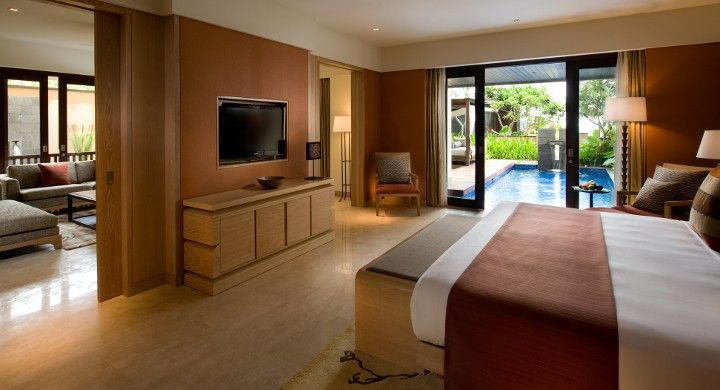 Conrad Pool Suite features a private plunge pool with views to the ocean
