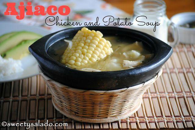 Ajiaco Bogotano (Colombian Chicken and Potato Soup) - Hispanic Kitchen