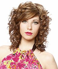 long bangs - Formal Long Curly Hairstyle - click to view hairstyle information