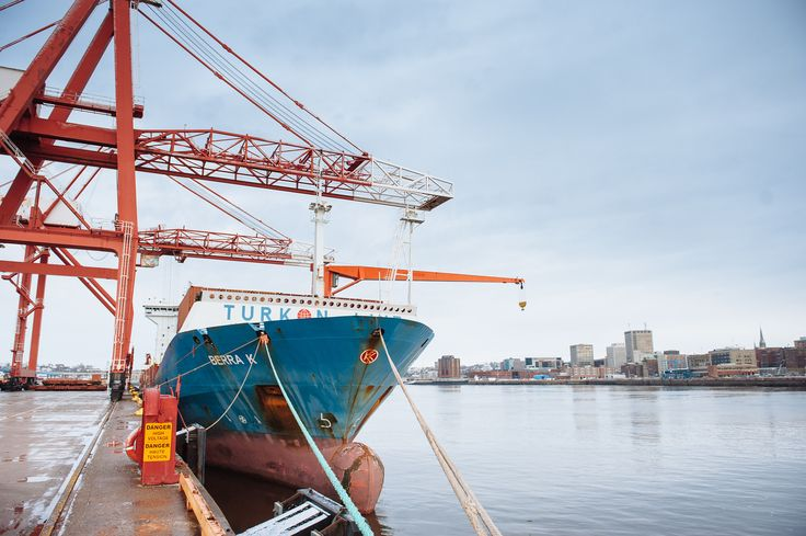 Tropical Ship in Port. January 2014  #port #trade #containers