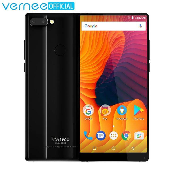 Vernee Mix 2 Mobile Phone 6G RAM 64G ROM MTK6757 Octa core 6.0 Inch 18:9 Display 13.0MP Android 7.0 Smartphone Dual Back Camera  Price: 168.47 USD