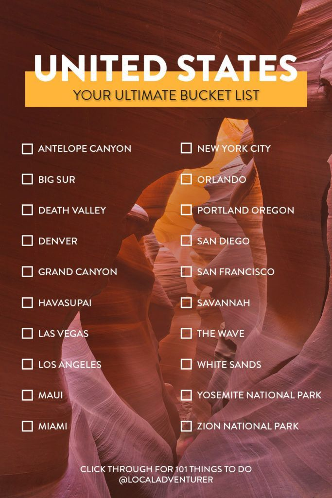 101 Places To Visit In Usa Your Ultimate Usa Bucket List Usa