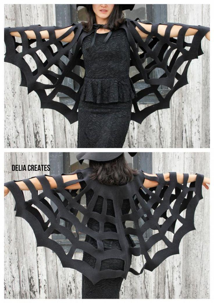 Fabriquer une cape toile d'araignée sans couture!! C'est super simple! - Bricolages - Trucs et Bricolages                                                                                                                                                                                 Plus