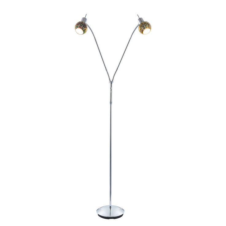 EEK A++, LED-Stehleuchte Firework - Acrylglas / Metall - 2, Nino Leuchten