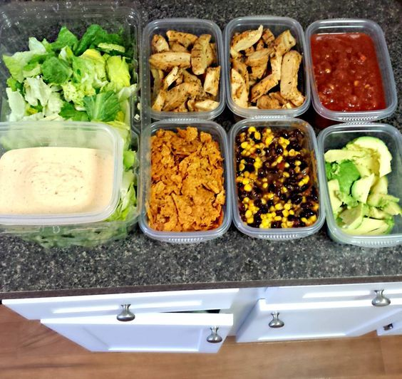 """Prep a """"Salad Bar"""" for the week // place items in separate containers, mix and match for sides and meals. I love doing this for a burrito bar too! Prepping is MAGIC for losing weight and staying healthy via Taralynn McNitt #cleaneating #prepday"""