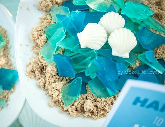 DIY seaglass candy for a beachy summer party! http://beachblissliving.com/beach-party-food-ideas/