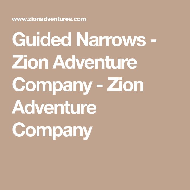Guided Narrows - Zion Adventure Company - Zion Adventure Company