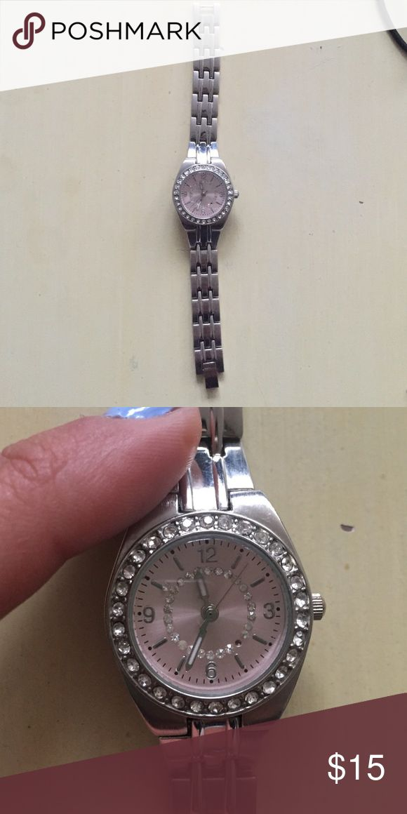 Pretty watch for sale 😍❤️ Beautiful buckle watch for sale ! Perfect working condition ! 😍❤️never used. Shop now 🛍make an offer Accessories Watches