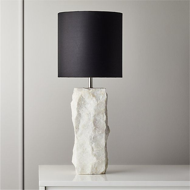 Raw Marble Table Lamp + Reviews | CB2 in 2020 | Modern ...