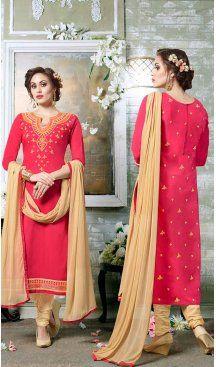 Deep Pink Color Cotton Embroidery Casual Salwar Kameez | FH582385880 Follow us @heenastyle #casualwaer #designersuits #salwarkameez #anarkalis #indiandesigner #desifashion #bollywoodstyle #salwar #chudidar #indianfashion #traditional #beauty #desicouture #pakistani #pakistaniwedding #pakistanibride #southindian #couture #cottonsalwarkameez #embroiderysalwarkameez #straightcutsalwarkameez #churidarkameez #churidarsuits #churidardresses #casualsalwarkameez #casualdresses #casualsuits…