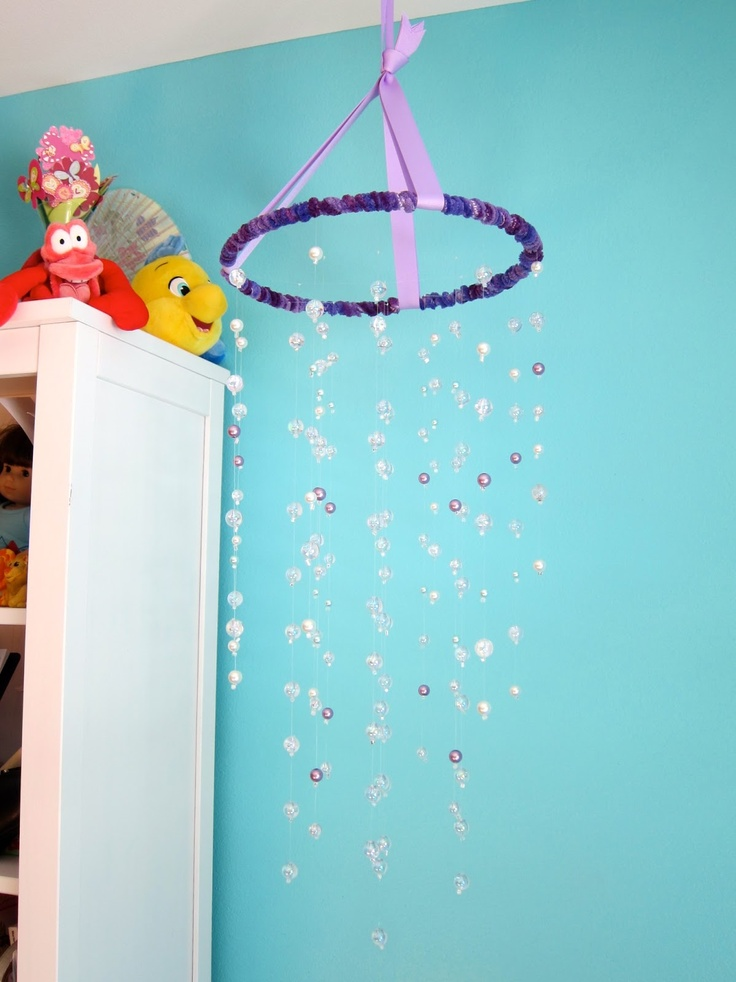 All Sorts Of Random Little Mermaid Room Bubble Mobile Tutorial