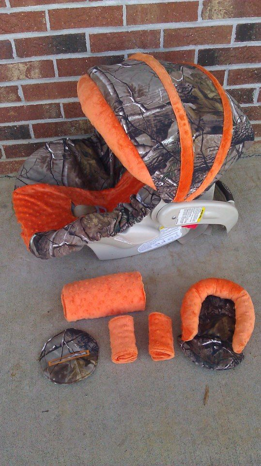 Orange and Camo Cover seat cover and Accessories