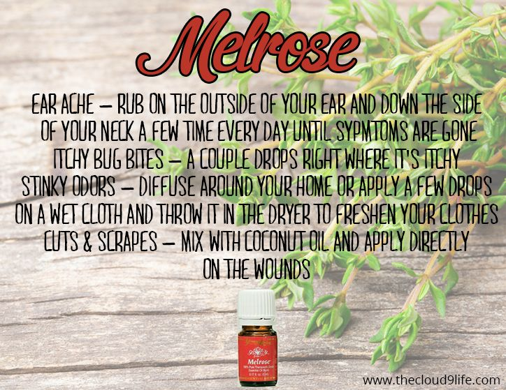 Melrose Essential Oil is an amazing blend of essential oils that is excellent for cleansing and healing scrapes, cuts, wounds and insect bites.
