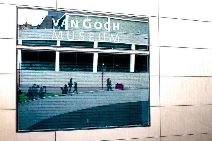 Museumplein, Amsterdam, The Netherlands, December 2013 - January 2014, Van Gogh Museum reflection