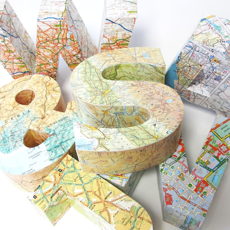 #map #letters as loved by #uberkate on #dtll.com.au