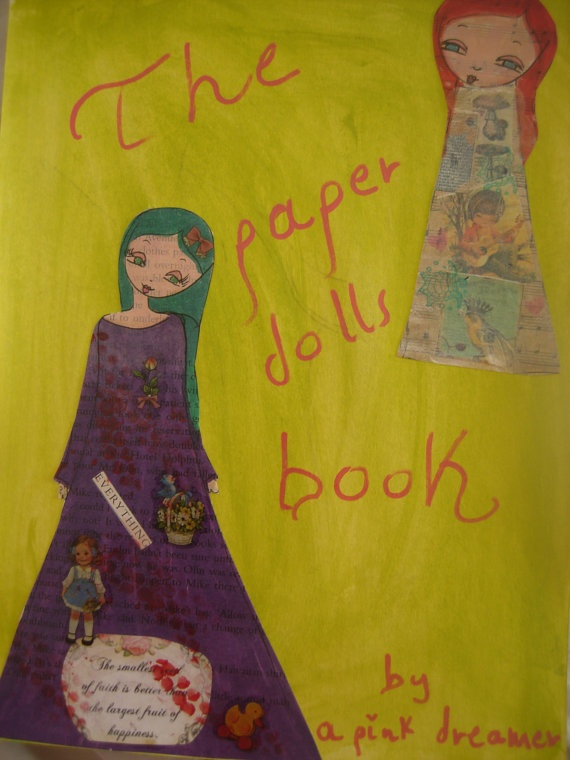 The Paper Dolls Book  Colouring Book of PAPER DOLLS by eltsamp, $35.00