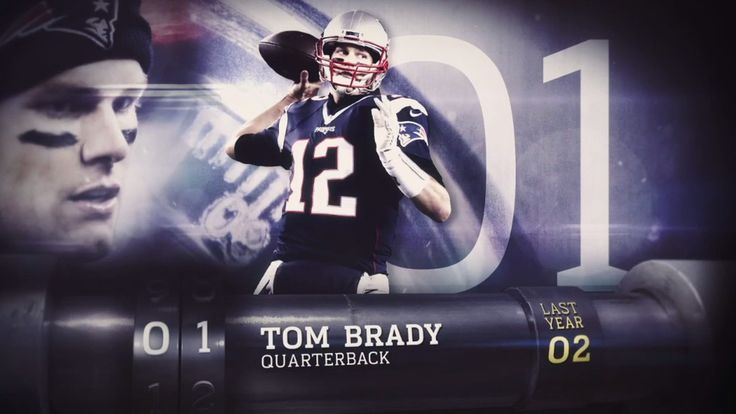 Other NFL players gave Kudos for TOM BRADY ranking number ONE in the top 100-