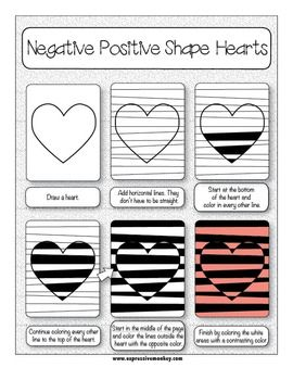 ART LESSON: OP ART USING POSITIVE & NEGATIVE SHAPES - TeachersPayTeachers.com