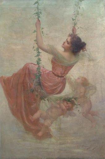 Angels And Cherubs By Baroque Original Oil Paintings