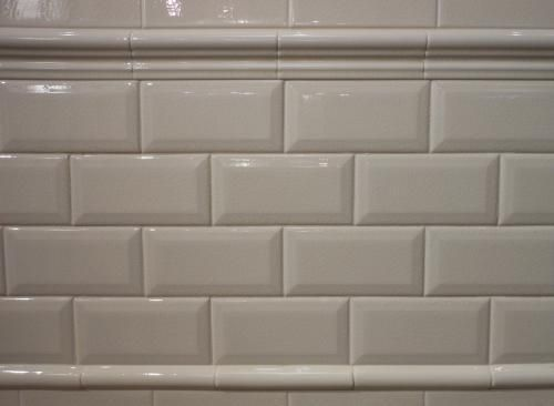 3x6 Beveled Subway Tile W Chair Rail Bulian Lane