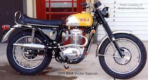 1970 BSA 441 Victory, BSA motorcycles, BSA gold star
