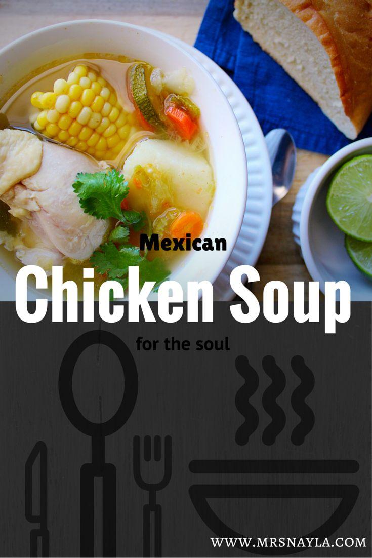Mexican Chicken Soup Caldo de Pollo Mexicano