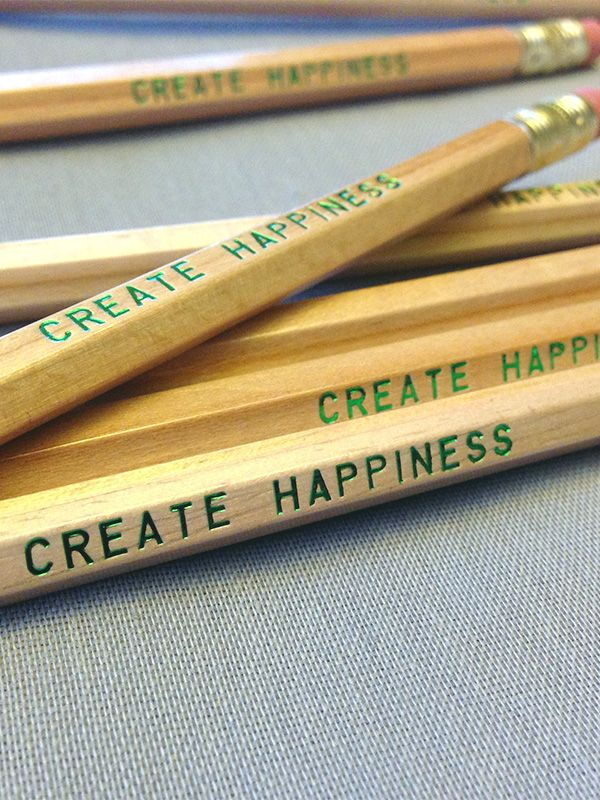 Love! :: Create Happiness Wood Pencil 6 Pack by Earmark Social Goods