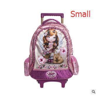 kids wheeled Backpack for girls kids Rolling backpack for school Kids Travel Trolley luggage school Bags Trolley Backpacks