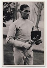 PETNEHAZY FENCING  HUNGARY HONGRIE ESCRIME JEUX OLYMPIQUES 1936 OLYMPIC GAMES