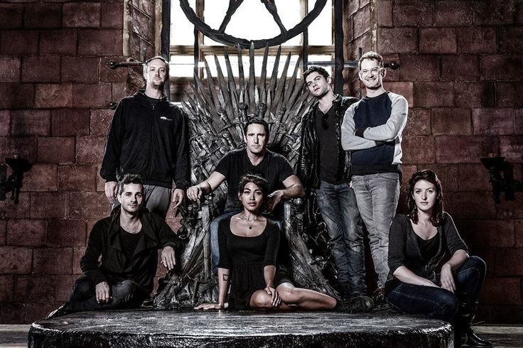 Trent Reznor on the Iron Throne. Taken when NIN was going through Belfast, where Game of Thrones is shot.