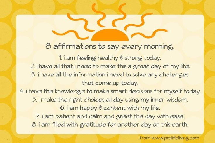 Recipe for change: Create your affirmations-pick one-put it some where you can see it (bathroom mirror for me)-say it every morning for 3 weeks-pick another one repeat.