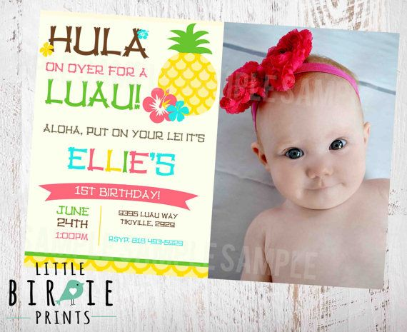 Best Luau Birthday Invitations Ideas On Pinterest Hawaiian - First birthday invitations girl online