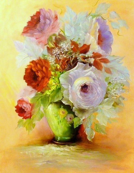 Kamillart, antique vase,50x60,