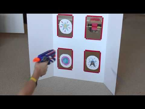 Spinning Nerf Targets - DIY Cardboard Toy - Frugal Fun For Boys