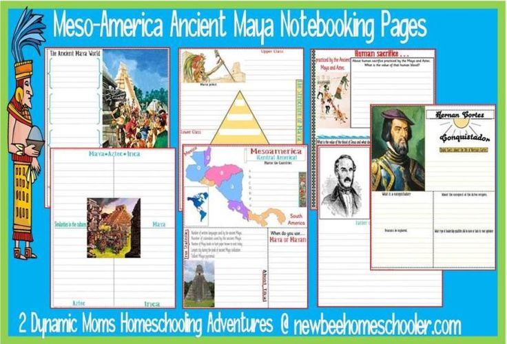 Ancient Maya Unit Study + {Notebooking Pages printable}