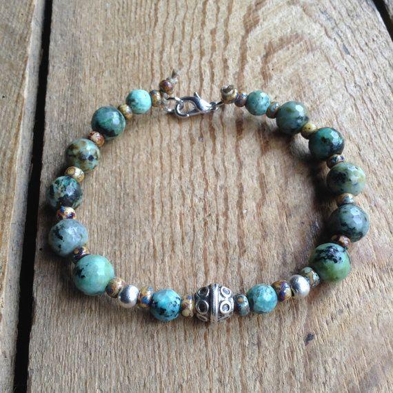 16 African turquoise bohemian bracelet boho chic beaded boho bracelet hippie jewelry gypsy womens jewelry gypys bracelet hippie bracelet