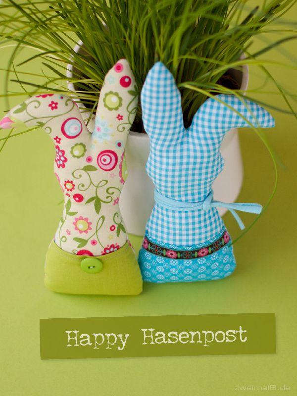 :: zweimalB :: Happy Hasenpost - Stoffhasen nach dem Design von www.april-kind.de
