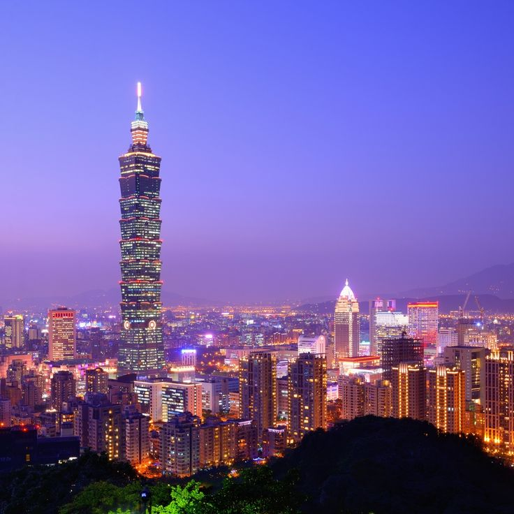 Taipei Taiwan  city photos gallery : Taipei, Taiwan evening skyline | Travel | Pinterest