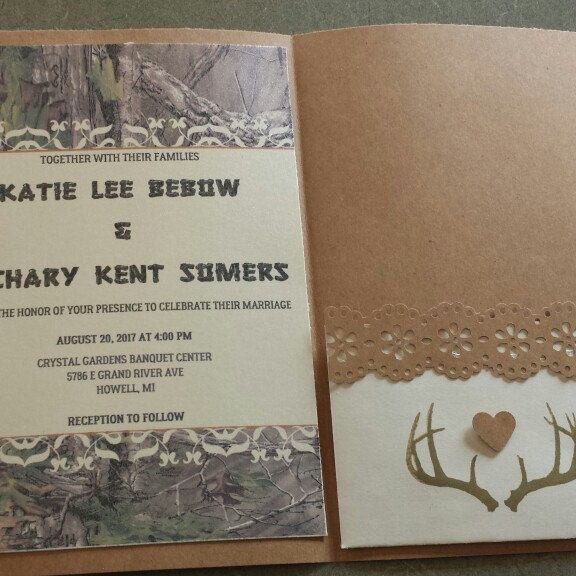 New camouflage trifold invitation!