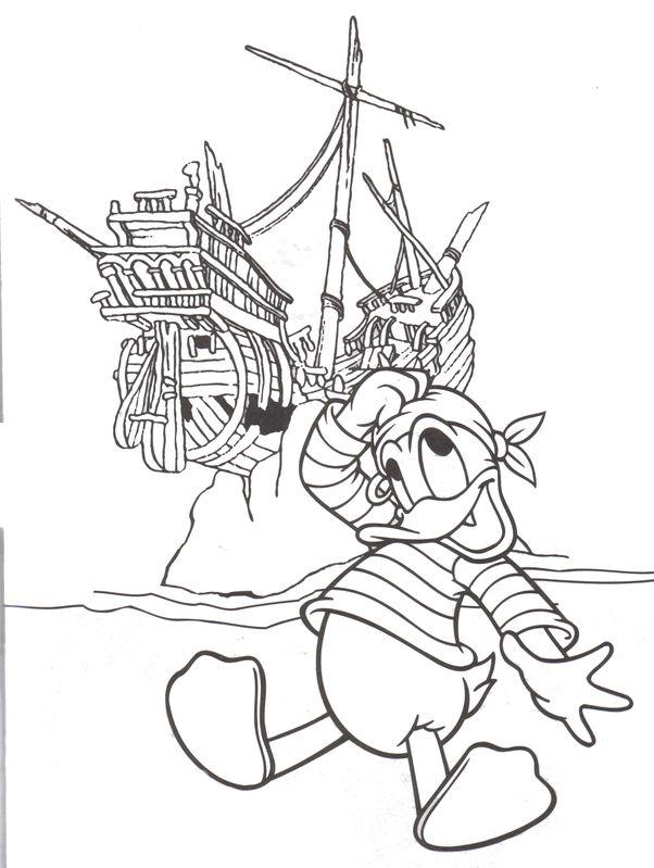 free mickey mouse pirate printables   Adventureland Pirates of the Caribbean Donald Duck Disneyland & Walt ...