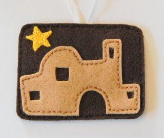 """C"" is for Crafty: Felt Jesse Tree Ornaments --- Bethlehem"