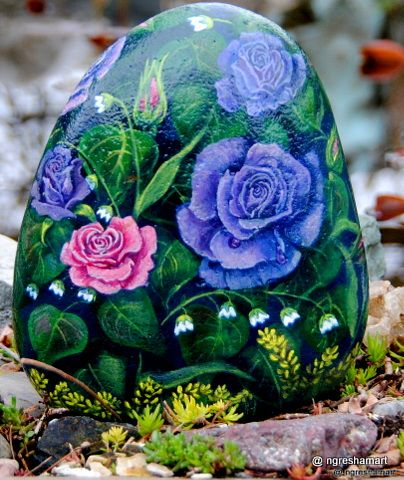 369 best images about hand painted rocks yard art garden - Painting rocks for garden ...