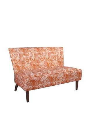 -54,800% OFF Skyline Furniture Modern Settee, Johnstone/Splendid Coral Rose