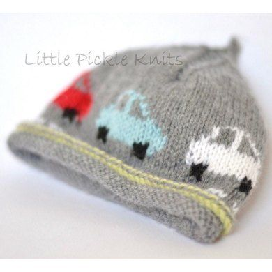 Little Pickle Knits Collection by Linda Whaley. Knit this 'Little Cars' Beanie to keep your little one cosy and warm. A fun hat that little boys will love to wear. The cars drive right around the hat.... Brrmm Brrmm! This Intarsia Knit hat is knitted with Bergere De France Caline 4ply yarn on 3 1/4mm (US#3) needles. This easy to read pattern has separate detailed instructions for each size. Just select and print the pages for the size you are knitting, and leave the other sizes safely in a…