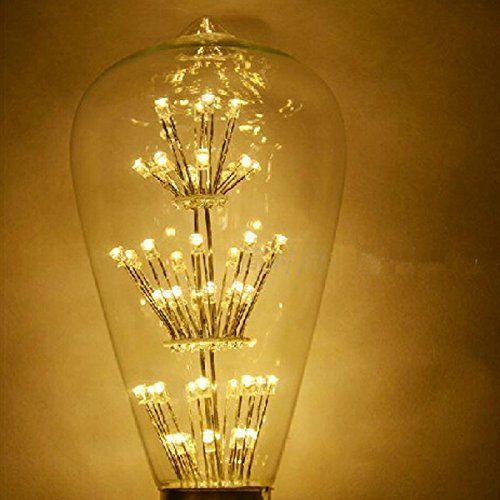 waycom 3w vintage edison led light bulb squirrel cage es e27 110v edison teardrop vintage lamp