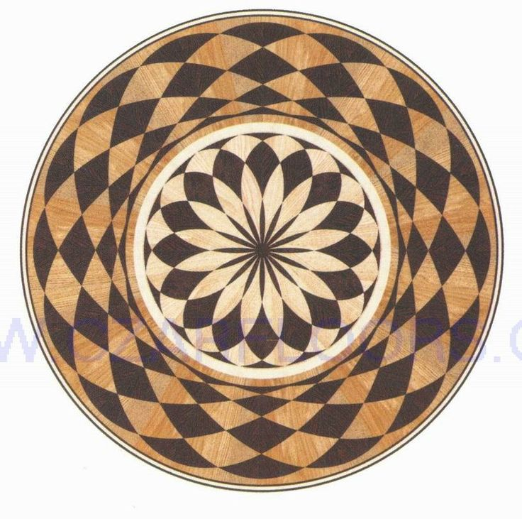18 best images about floor pattem on pinterest artistic for Wood floor medallions inlay designs
