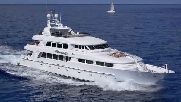 The 190-foot Trinity yacht Skyfall is on the yacht brokerage market. Asking price: $35 million. | Yachting Magazine