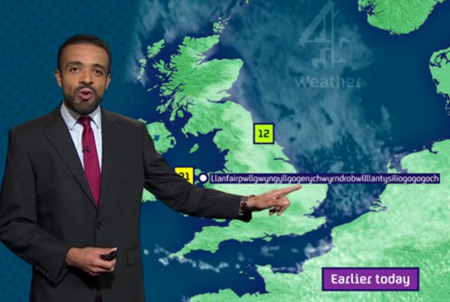 Watch This Weatherman Casually Say 58-Letter-Long Welsh Town Name