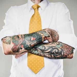 """""""Tattoo? What Tattoo?""""Regardless of whether you like them or not, does a visible tattoo influence your opinion of the person wearing it? Sure it does. It's why we wear a suit, shine our shoe and/or"""