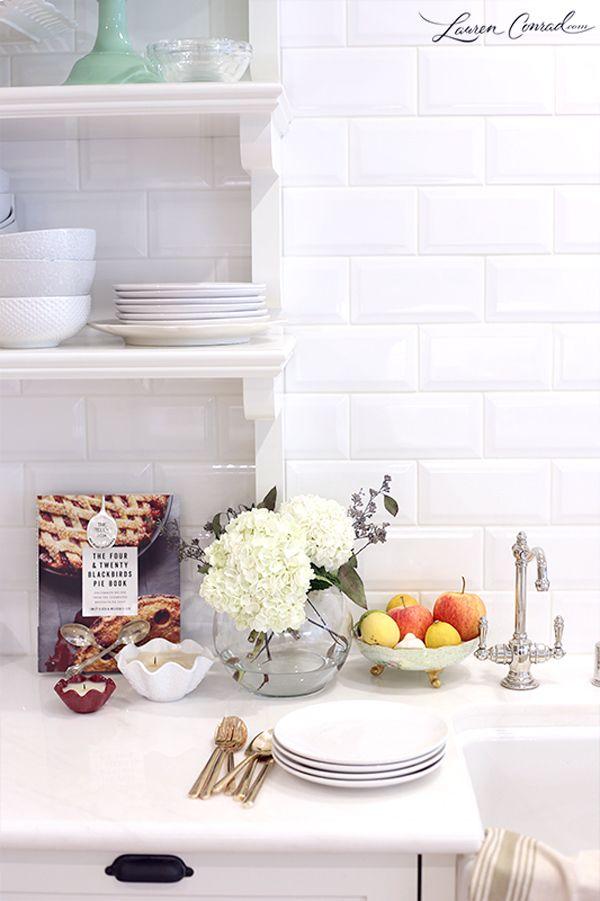 Lauren Conrad's All White kitchen